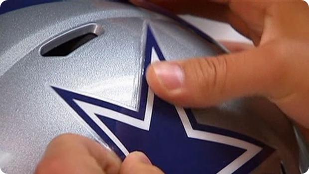 Dallas Cowboys -putting Star on Helmet - Dallas Cowboys rookies -
