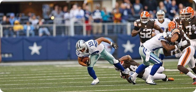 dallas cowboys wr miles austin nearly breaks free for a td vs cleveland browns - the boys are back blog