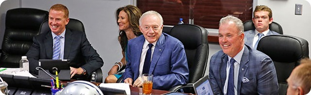 DIAMONDS IN THE ROUGH POST DRAFT - Dallas Cowboys scramble to sign priority undrafted free agents - Jerry Jones Jason Garrett war room 2014