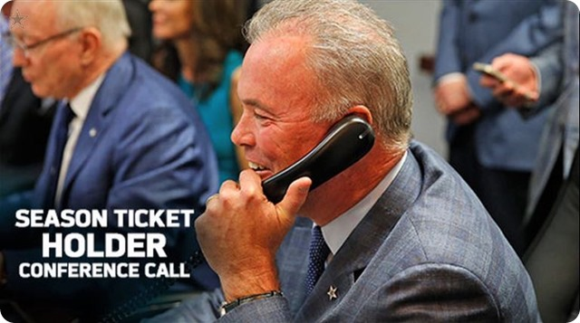 SMARTIN' MARTIN OVER MANZIEL - Dallas Cowboys season ticket holders conference call with Stephen Jones - Tony Romo commitment