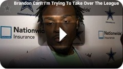 TAKIN IT UP A NOTCH - Dallas Cowboys CB Brandon Carr changed offseason work habits, determined to take over the league - Watch Video