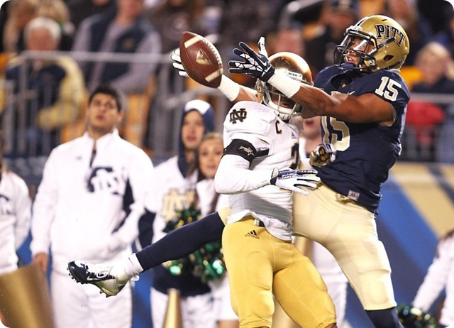TALLER TARGET TAKEN TODAY - Dallas Cowboys shift lanes for Pitt WR Devin Street - NFL Draft 2014 – 5th Round 1