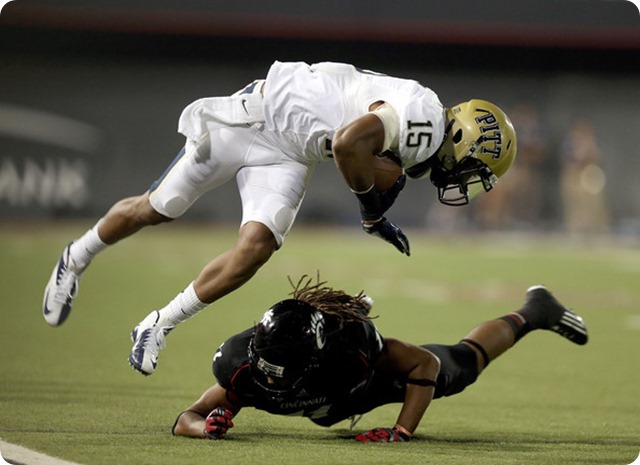 TALLER TARGET TAKEN TODAY - Dallas Cowboys shift lanes for Pitt WR Devin Street - NFL Draft 2014 – 5th Round 2