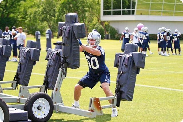 THE BOYS ARE BACK TO WORK - Sean Lee injury key topic at Jason Garrett's press conference - 2014 Dallas Cowboys OTA's Report - Lee practicing