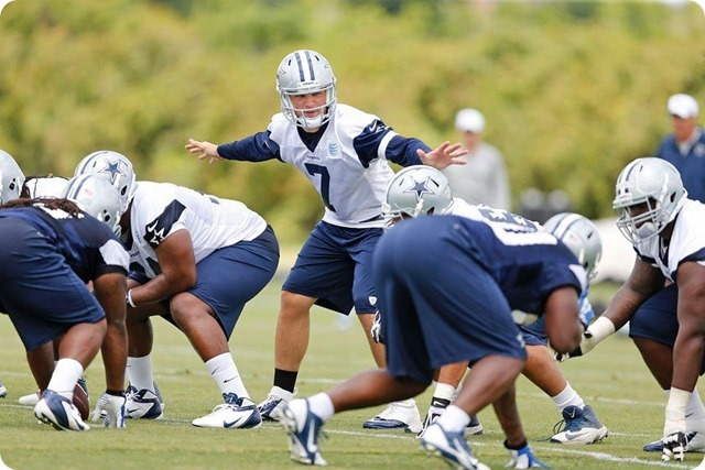 THE QUARTERBACKUP SAGA - Dallas QB Kyle Orton's absence is providing opportunities for the Cowboys other guns - Dallas Cowboys 2014 OTA's Report c