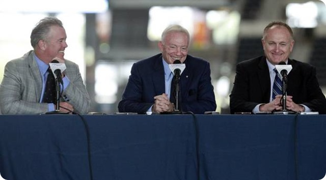 THE SHADOWS OF VALLEY RANCH - Dallas Cowboys NFL Draft war room includes Jerry Jones Stephen Jones and director of scouting Tom Ciskowski - The Boys Are Back website 2014