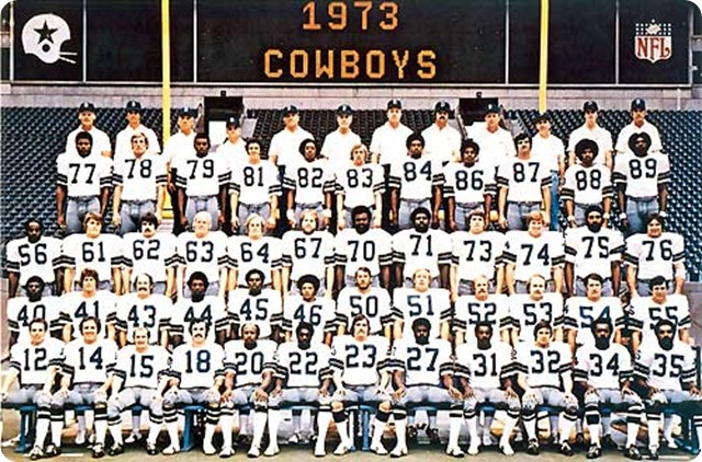 1973 Dallas Cowboys team photo - The Boys Are Back website