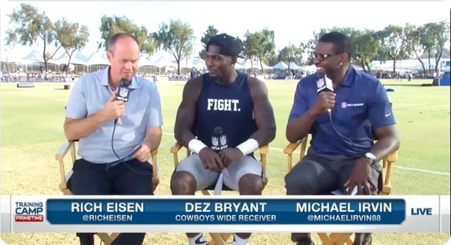 "2014 COWBOYS CAMP COVERAGE - Dez Bryant committed to winning - ""Walk around like a champion"" - NFL Network interviews with Dez Bryant and Jerry Jones"