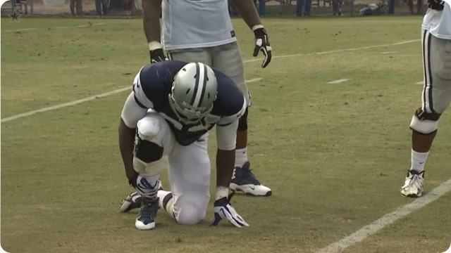 2014 COWBOYS CAMP COVERAGE - Rookie DeMarcus Lawrence out with broken foot - DE back to Dallas for surgery - Garrett, Marinelli discuss options without Lawrence - Analysis