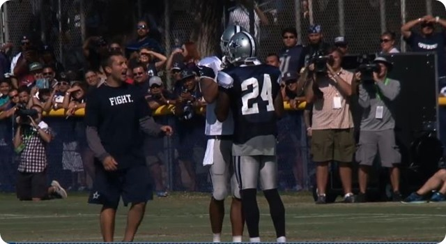 2014 COWBOYS CAMP COVERAGE - The Boys Are Back in pads - Claiborne and Williams tempers flair - Cross-Training in the trenches