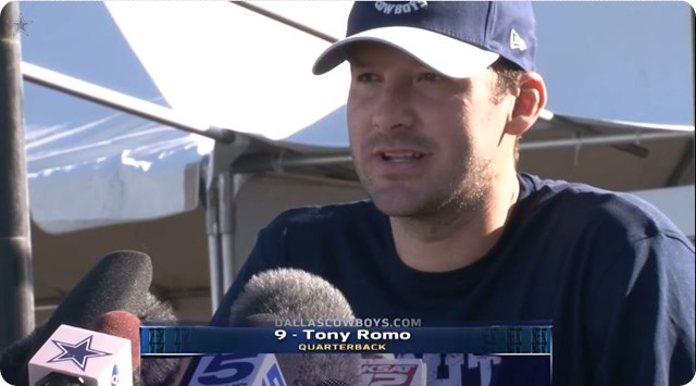2014 COWBOYS CAMP COVERAGE - Tony Romo update - Brandon Carr, Rolando McClain out; expect Ronald Leary soon - Rookie DeMarcus Lawrence sack-hungry
