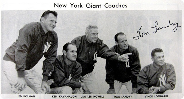 BEHIND THE SCENES - GOING DEEP - Dallas Cowboys coach Jason Garrett and his father have a special bond - Vince Lombardi Tom Landry NYG 1956