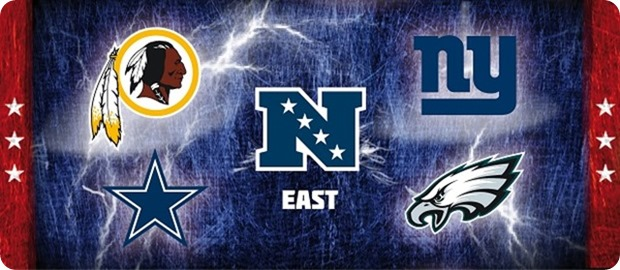 NFC East - NFL NFC East flag - lightning - button