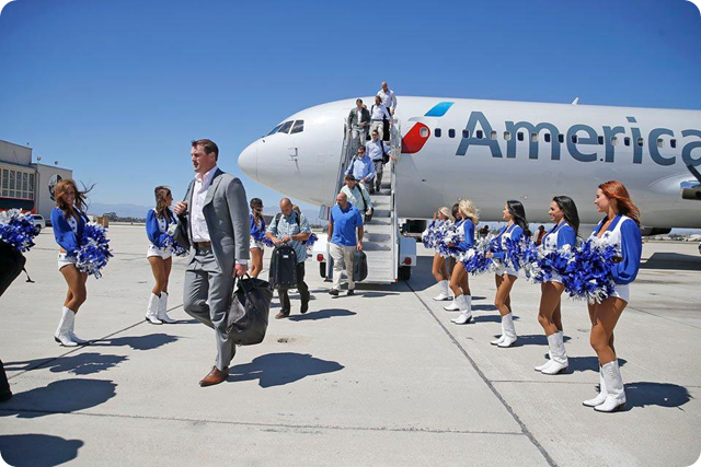 THE BOYS ARE BACK - Dallas Cowboys arrive at Naval Base near Oxnard, California - 2014-2015 Dallas Cowboys Training Camp - Jason Witten and teammates depart - The Boys Are Back website