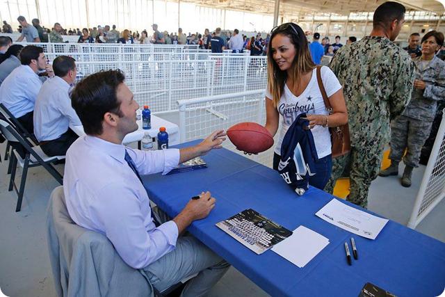 THE BOYS ARE BACK - Dallas Cowboys arrive at Naval Base near Oxnard, California - 2014-2015 Dallas Cowboys Training Camp - Tony Romo - The Boys Are Back website