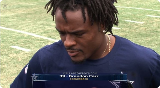2014 PRESEASON ROSTER RUNDOWN - Dallas Cowboys cornerback Brandon Carr returns - The Boys Are Back website 2014