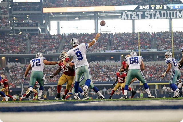 2014-2015 GAME 1 RECAP - San Francisco vs. Dallas - Cowboys opener spoiled by 49ers, 28-17 - Early turnovers overshadow decent defensive effort - Analysis - Videos