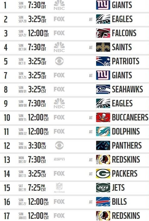 Dramatic image inside printable dallas cowboys schedule