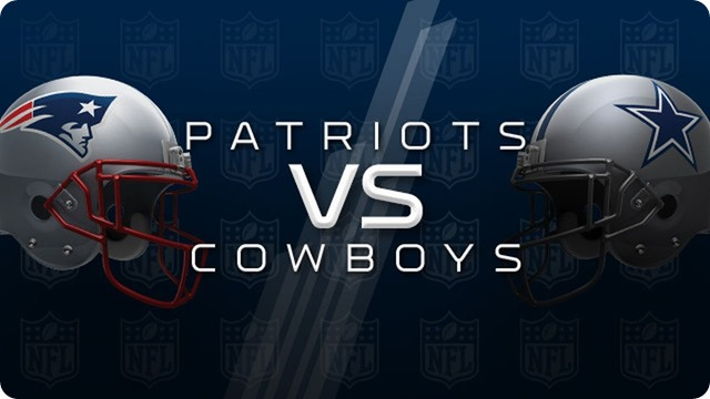 New England Patriots vs. Dallas Cowboys - The Boys Are Back website 2015